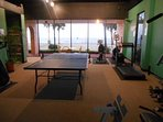 Challenge the family to a fun game of ping pong in our exercise/activity room