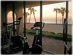 Exercise while watching the gentle Gulf waves