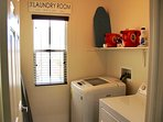 In-home washer and dryer for all your laundry needs