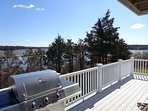 Deck with gas grill