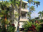 The middle lanai is where you will be staying.  2nd floor views and privacy.