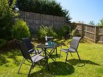 Relax in the enclosed garden