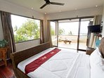 Villa Umbrella has Spectacular views of the ocean beaches and the island of Bali and the Volcano
