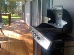bbq on upstairs huge deck with extra bbq downstairs for lawn use