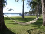 stunning lawn to best lake in australia - read a book get a glass in between swims and boating