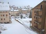 Vista invernale dall'appartamento