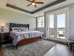 Master bedroom with Seale Posturpedic King Pillowtop mattress has access to deck with Amazing Views.
