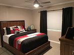 Master Bedroom, Queen Bed and HDTV
