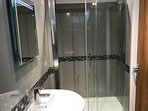 large power shower  in new en suite