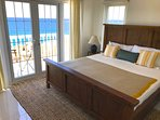 Master bedroom with King Bed, Desk, & Balcony overlook the Caribbean Sea