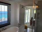 Master Bath overlooking Caribbean Sea