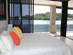 Onyx Luxury Harbour Resort Poinciana Residence Master Bedroom with king bed and spa ensuite