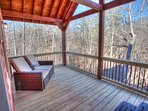 Seat on back deck and listen to water below