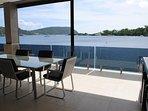 Onyx Luxury Harbour Resort Poinciana Residence Veranda overlooking Port Vila Harbour and pool