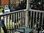 Balcony with two chairs and a balcony - perfect spot to read, or have a meal in the spring & summer