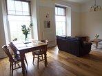 Oak flooring to living room