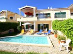 Semi-detached villa with private pool and large veranda with panoramic sea views