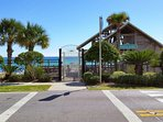 Private Beach Entrance & Restrooms