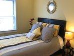 Bedroom 2: 1 queen bed and closet