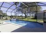 Heated pool on golf course. Pool entrance from 4 rooms.