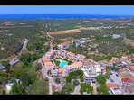 Aerial view facing north. Aegean view
