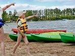 Canoe hire at the Lake