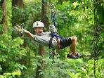 Canopy/zipline tour in Playa Hermosa