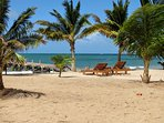 Your beach at Villa Rising Sun in Hopkins Belize