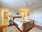 Two people can rest easy in this sleigh bed.