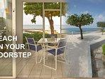 Beach on your doorstep, literally 3 steps