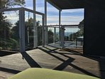 Ocean view from back patio furniture