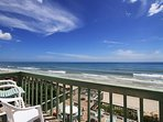 Private balcony off the master bedroom with beautiful beach front views.
