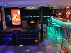 Large entertainment space with bar, home cinema, SKY+, Netflix, link to Spotify, dance floor
