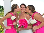 The bride and her nieces, just before the ceremony