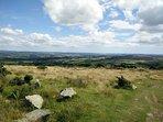 Vista del Caradon & Bodmin Moor da Kelly Bray.