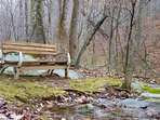 Your Private Sitting Area Beside the Creek is Just Waiting for you to Curl Up with a Good Book