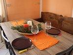 tavolo cucina da 6 posti allungabile con prolunga centrale a 8 posti