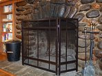 The Large Rock Fireplace is Perfect for those Nice Cool Evenings