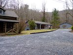 Cabin Logwood is on a 2 1/2 Acre Property, w/ Two More of our Mountain Cabins