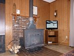 Another Shot of the Woodstove and TV