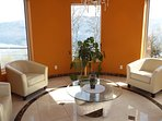 Lake View Family Room: Great for wine tasting, games, or just sitting around relaxing