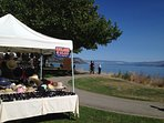 Sunday Farmer's Market Local tree ripe fruit and vegetables, hand made crafts and articles.