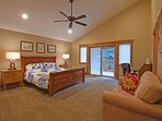 Master bedroom with private deck and en suite bathroom