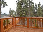 Private deck, master bedroom access only