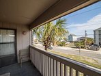 The door provides direct balcony access from the master bedroom.  There are two public beach access points nearby.