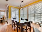 Enjoy a meal a the gorgeous dining room table!