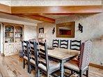 Dining Area Seats Eight