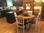 Dining room with antique buffet