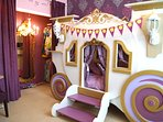 Rapunzel's Celebration Carriage Bunk Room; Dressing Closet w/ dozens of Gorgeous Gowns All Sizes!!!
