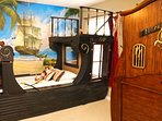 Pirates of the Caribbean twin bed with Open Seas bunkbed (2 twins) sleeps 3!
